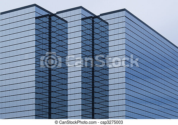 modern office building with glass exterior - csp3275003