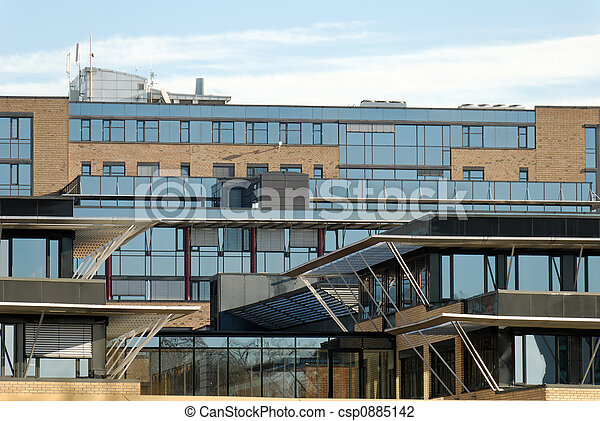 Modern Office Buildings - csp0885142