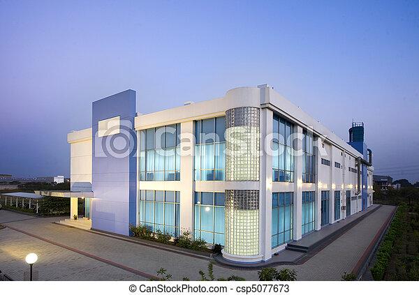 Modern office center. Modern office building exterior in a ...