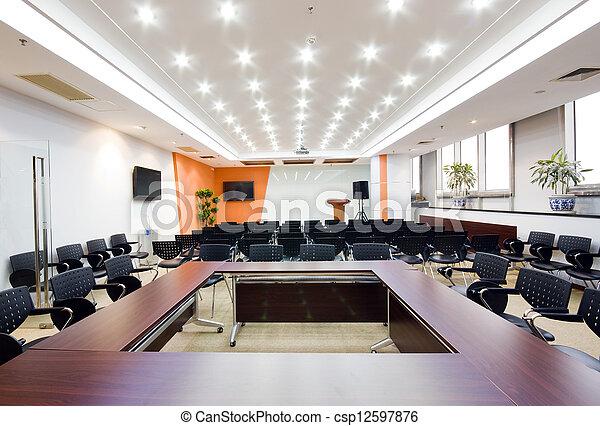 Modern office interior Boardroom - csp12597876