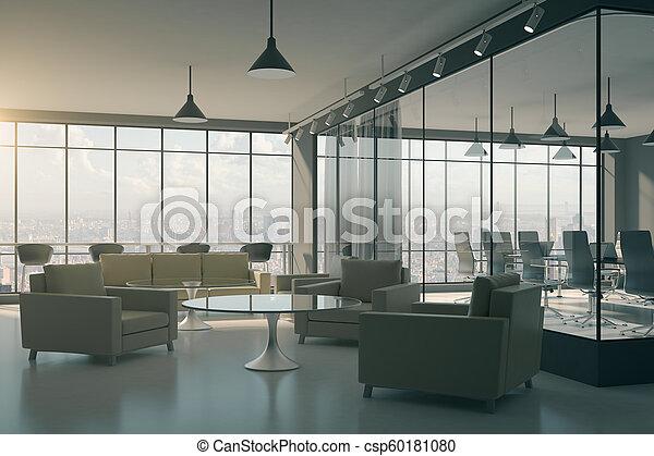 Modern office lobby interior