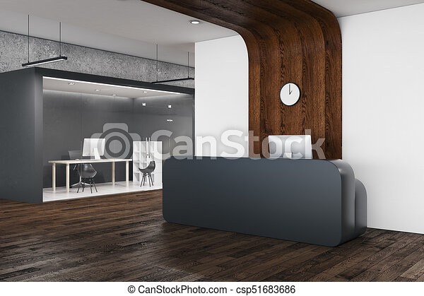 modern office reception desk. Modern Office Reception - Csp51683686 Desk