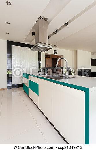 Modern open kitchen - csp21049213