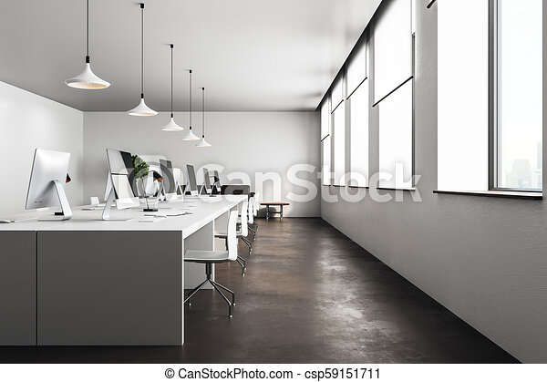 Modern loft style open space can be used whether office space or