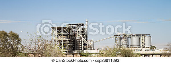 Modern plant in the desert, Jordan,  Middle East    - csp26811893