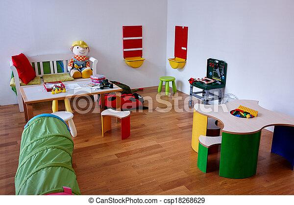 Modern play children's room - csp18268629