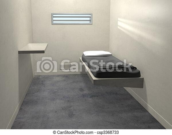 Modern Prison Cell - csp3368733