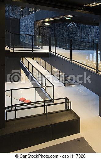 Modern public interior. Modern interior of the utrecht university ...