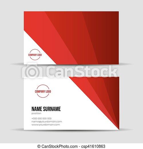 Modern red business card template modern red business card template csp41610863 fbccfo Images