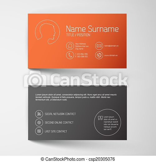 Modern Red Business Card Template With Simple Graphic Modern Red