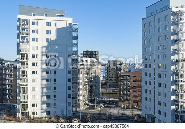 Modern residential area in Gothenburg - csp43367564
