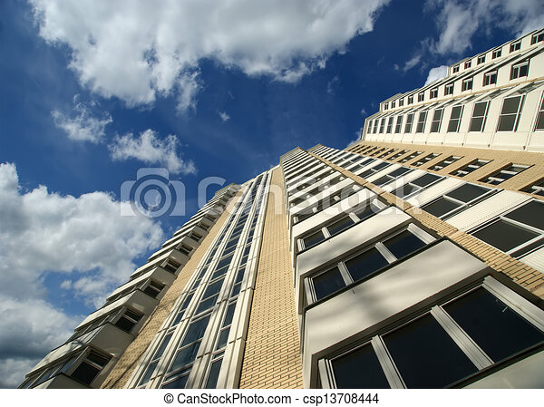 Modern residential high rise building. Moscow, Russia - csp13708444