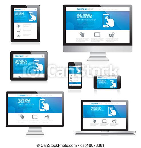Modern responsive web design comput - csp18078361