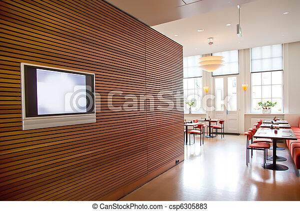 modern restaurant interior - csp6305883