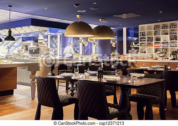 modern  restaurant - csp12371213