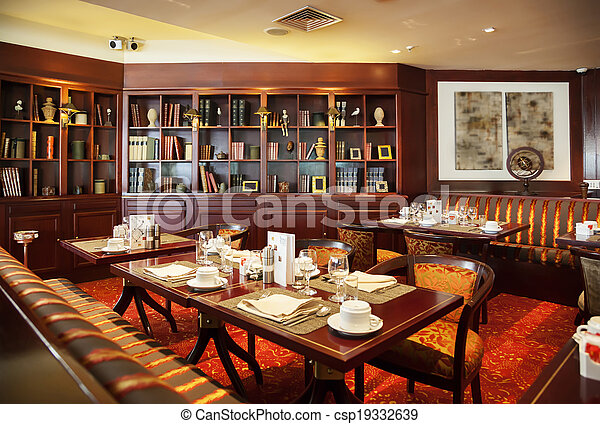 modern restaurant - csp19332639