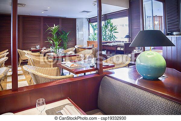 modern restaurant - csp19332930
