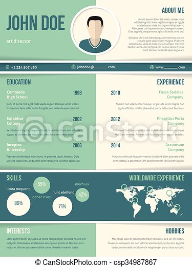 modern resume cv template with color elements modern resume cv