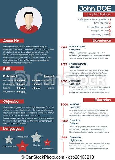modern resume or cv