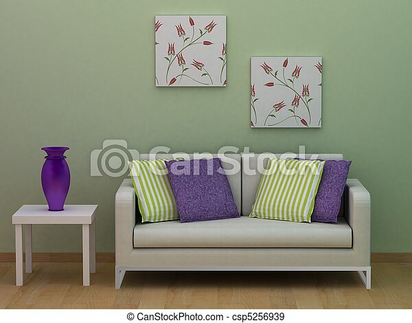 modern room - csp5256939