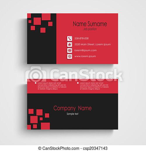 Modern sample business card template vector eps 10 modern sample business card template csp20347143 friedricerecipe Gallery