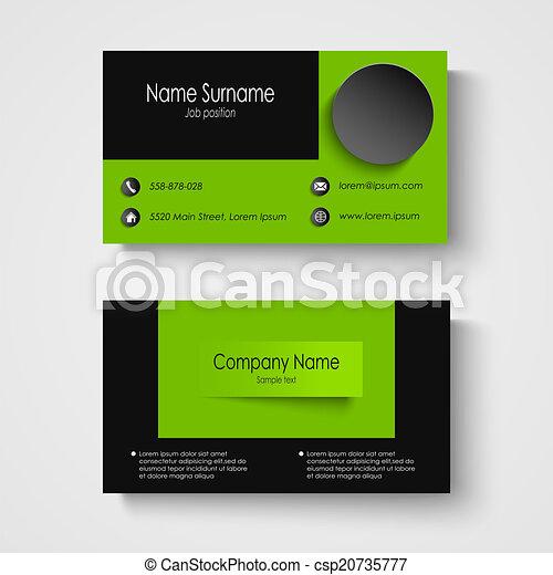 Modern sample green business card template vector eps 10 modern sample green business card template csp20735777 flashek Choice Image