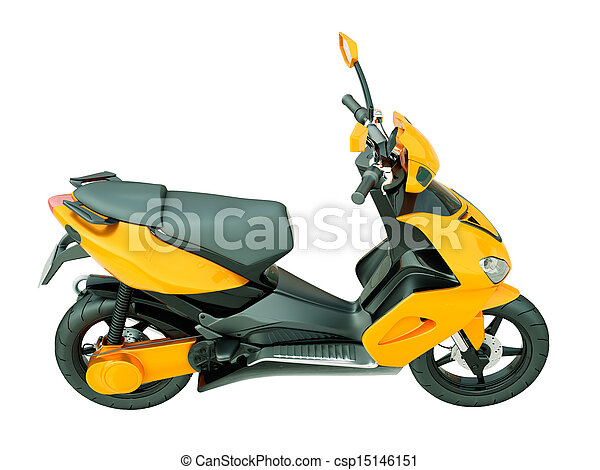 Modern scooter isolated - csp15146151