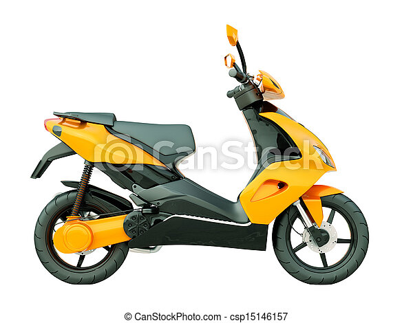 Modern scooter isolated - csp15146157