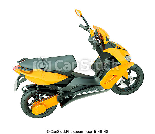 Modern scooter isolated - csp15146140