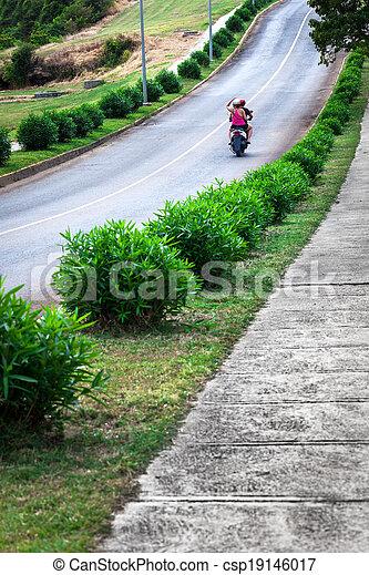 modern scooter - csp19146017