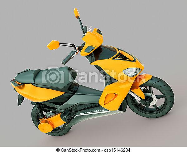 Modern scooter - csp15146234