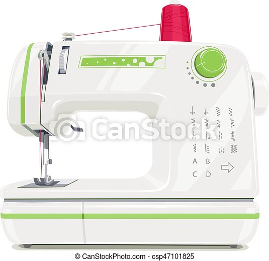 Modern Sewing Machine With Red Spool Thread Equipment For Sew Vogue Adorable Modern Sewing Machine