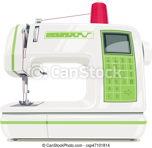 Modern Sewing Machine With Red Spool Thread Equipment For Sew Vogue Cool Modern Sewing Machine