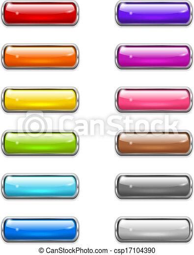 Modern shiny buttons