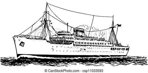Modern ship - csp11033593