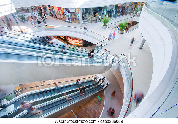 Modern shopping mall - csp8286089