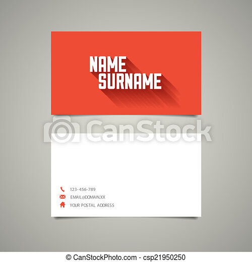 Modern simple business card template with long shadow effect modern modern simple business card template with long shadow effect csp21950250 fbccfo Gallery