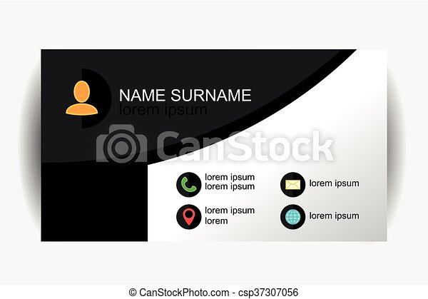 Modern simple business card template with flat user clipart modern simple business card template with flat user interface vector design wajeb Image collections