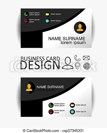 Modern simple business card template with flat user interface modern simple business card template with flat user interface vector design colourmoves