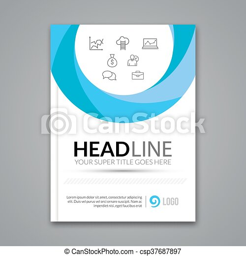 Modern simple circle Vector Template for Business Brochure, Report, Poster,  Banner or Flyer Design  Flyer mockup template