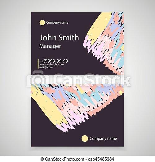 Modern simple light business card template flat design vector modern simple light business card template flat design vector illustration colourmoves
