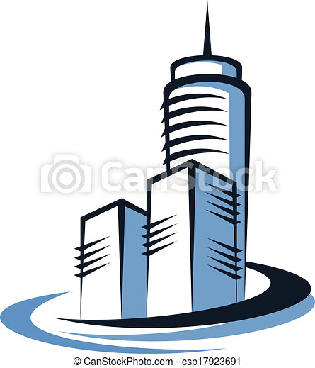 modern skyscraper modern city skyline doodle sketch with eps rh canstockphoto com skyscraper buildings clipart skyscraper clipart free