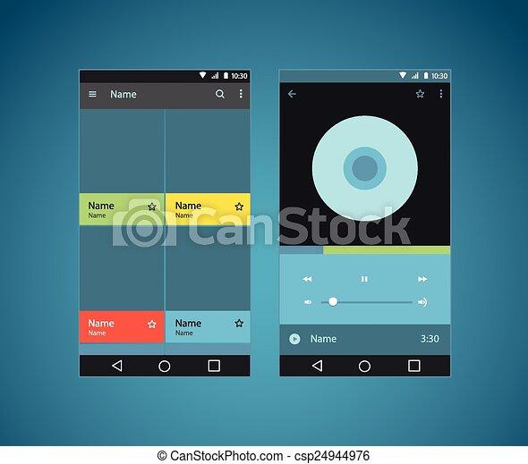 Modern smartphone player interface template - csp24944976
