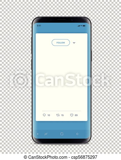 Modern smartphone with messenger interface - csp56875297