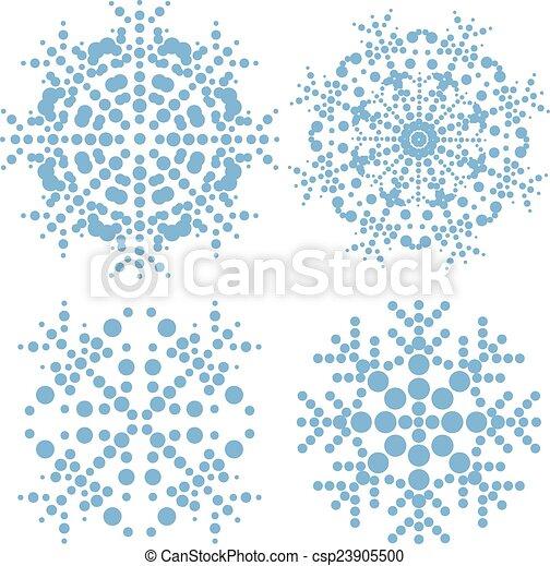 Modern snowflakes - csp23905500