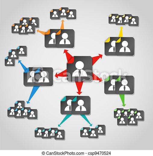Modern social media content flows to avatar - csp9470524
