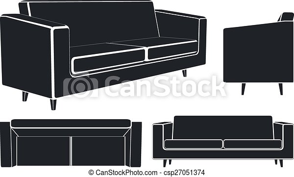 Modern Sofa Vector Illustration Vector Illustration Of Modern Sofa