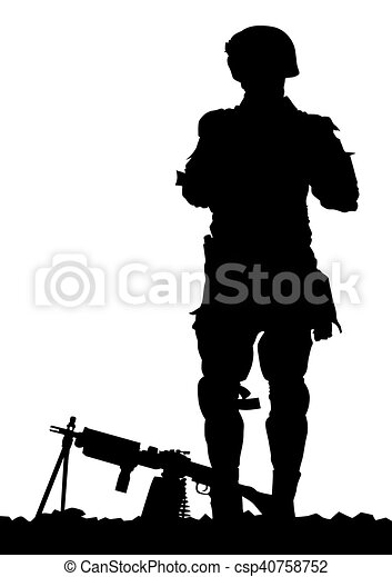 modern soldiers in uniform on a white background clipart vector rh canstockphoto com vector soldier vector soldier
