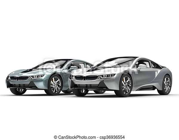 Modern Sports Cars Metallic And Silver Paint