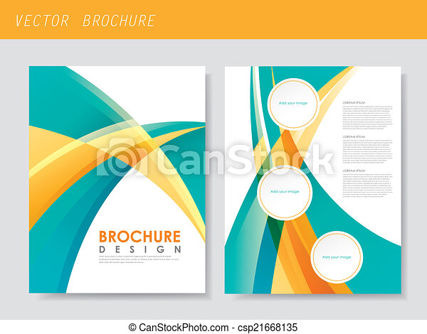 modern streamlined flyer template for business - csp21668135